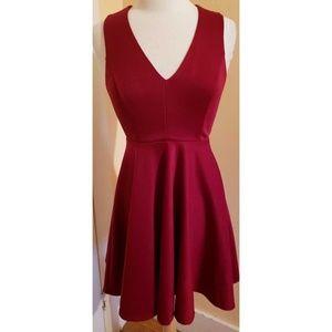 Altar'd State Red A Line Dress Lace Back Skater